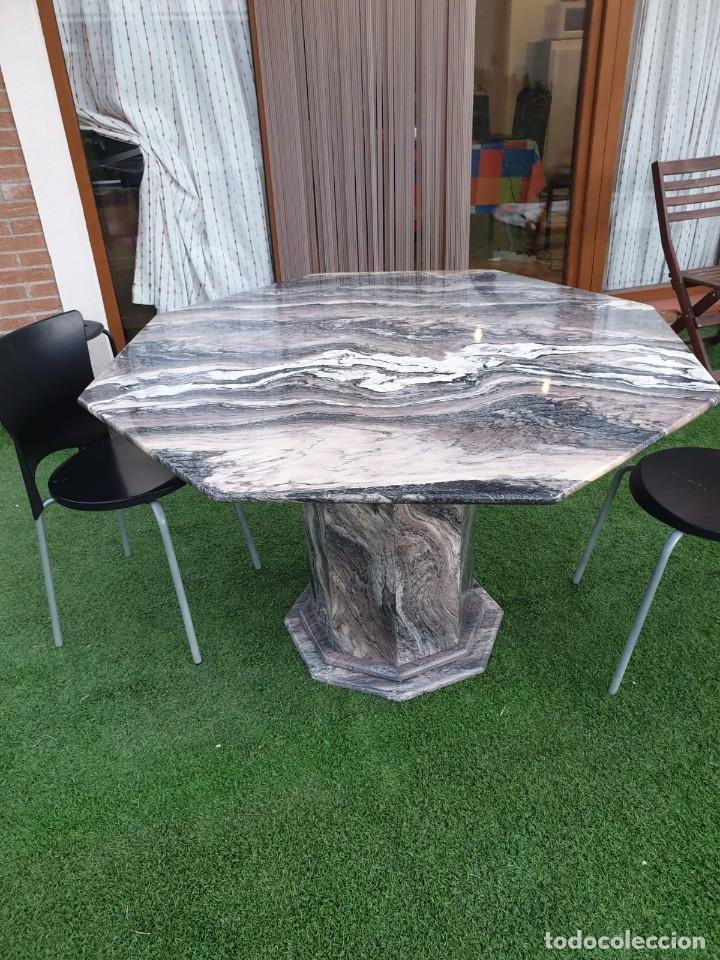 Antigüedades: impresionante mesa de marmol octogonal - Foto 4 - 195236545