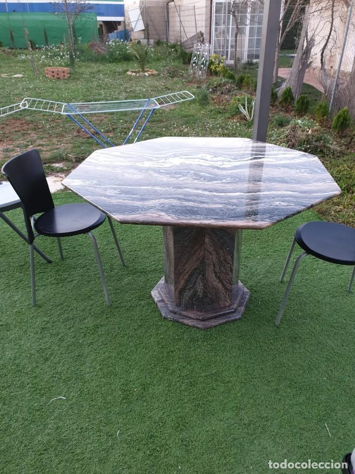 Antigüedades: impresionante mesa de marmol octogonal - Foto 7 - 195236545