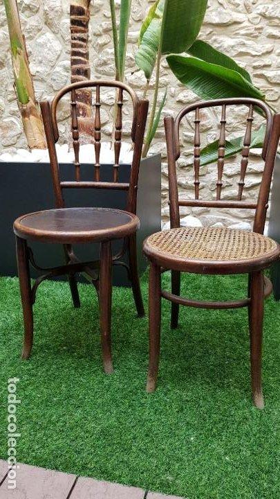 Antigüedades: 2 sillas antiguas tipo Thonet - Foto 2 - 195237283