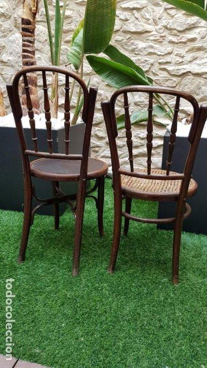 Antigüedades: 2 sillas antiguas tipo Thonet - Foto 4 - 195237283