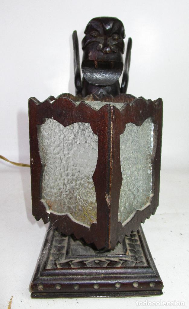 Antigüedades: RARÍSIMA LAMPARA RENACIMIENTO ESPAÑOL PARA DESPACHO MESA A JUEGO ANTIGUA ORIGINAL - Foto 4 - 195242321
