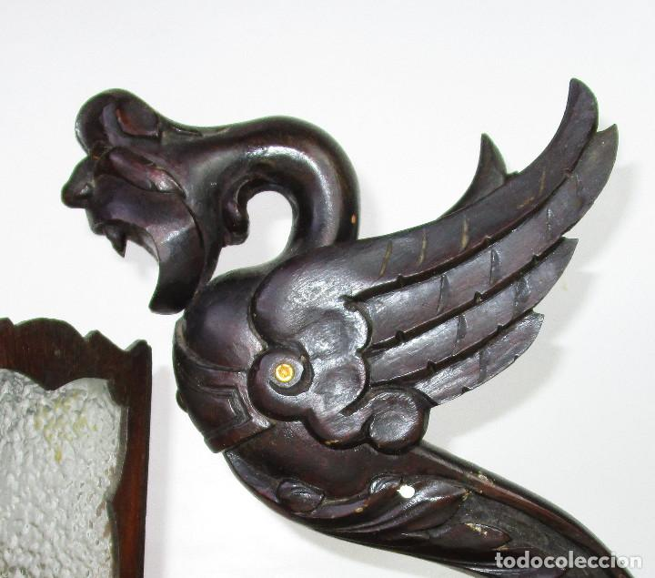 Antigüedades: RARÍSIMA LAMPARA RENACIMIENTO ESPAÑOL PARA DESPACHO MESA A JUEGO ANTIGUA ORIGINAL - Foto 7 - 195242321