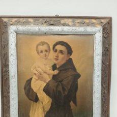 Antigüedades: MARCO DE MADERA IMAGEN SAN ANTONIO. Lote 195244967