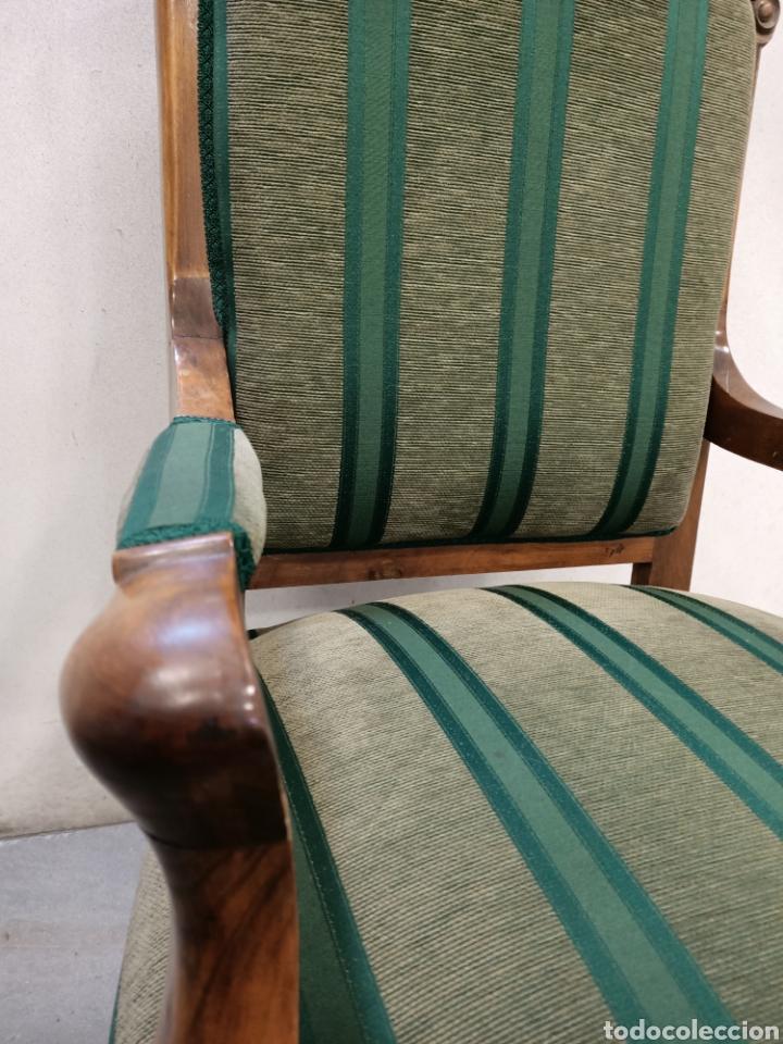 Antigüedades: Sillería en madera de nogal tapizada - Foto 2 - 195245573