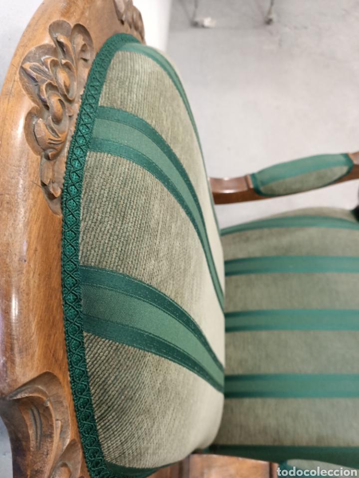 Antigüedades: Sillería en madera de nogal tapizada - Foto 3 - 195245573