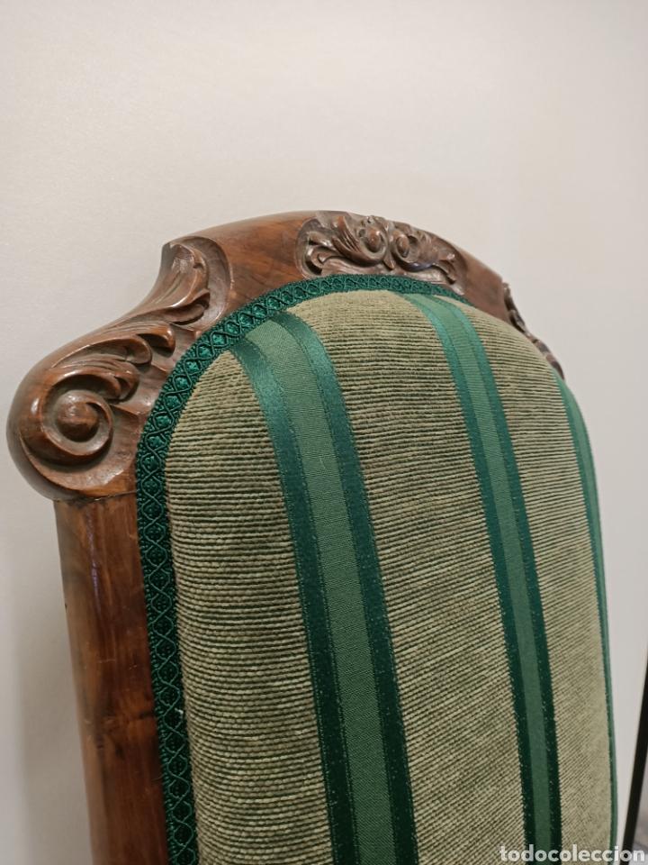 Antigüedades: Sillería en madera de nogal tapizada - Foto 4 - 195245573