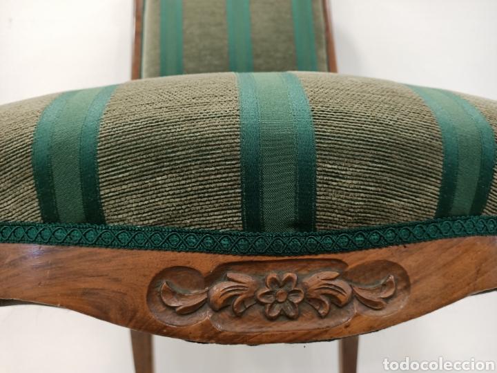 Antigüedades: Sillería en madera de nogal tapizada - Foto 5 - 195245573