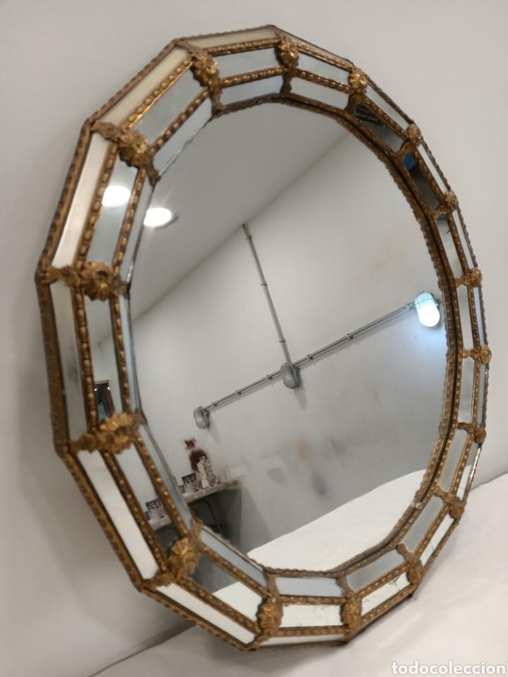 Antigüedades: Espejo Tipo Veneciano - Foto 2 - 238732235