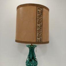 Antigüedades: PRECIOSA LAMPARA VINTAGE VERDE. Lote 195246273