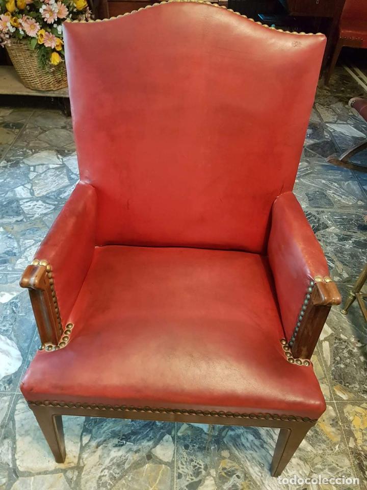 Antigüedades: Conjunto 4 sillas 2 butacones 1 sillón - Foto 2 - 195247168