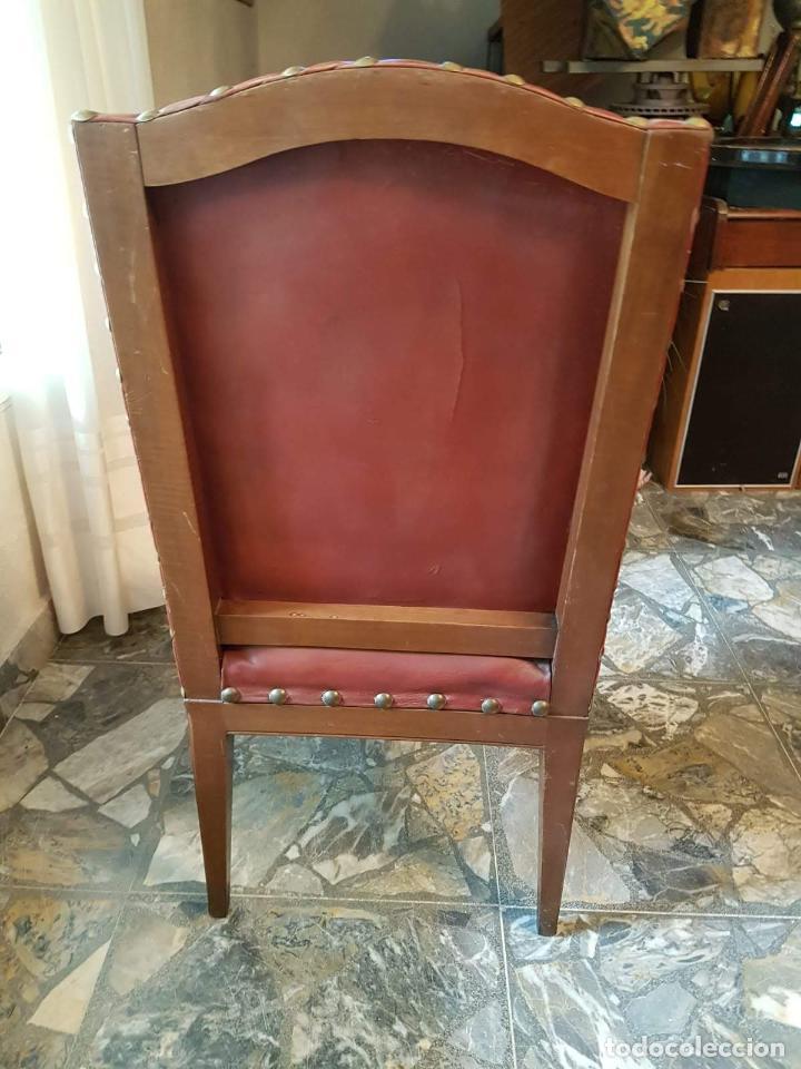 Antigüedades: Conjunto 4 sillas 2 butacones 1 sillón - Foto 8 - 195247168