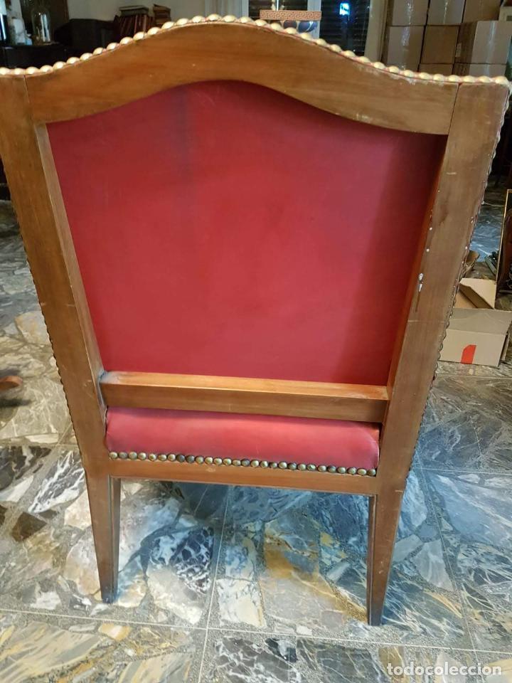 Antigüedades: Conjunto 4 sillas 2 butacones 1 sillón - Foto 11 - 195247168