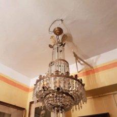Antigüedades: LAMPARAS DE CRISTAL. Lote 195247291