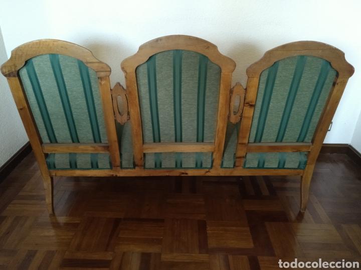 Antigüedades: Sillería en madera de nogal tapizada - Foto 9 - 195245573