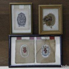Antigüedades: CONJUNTO DE CUATRO ESCAPULARIOS. Lote 195251541