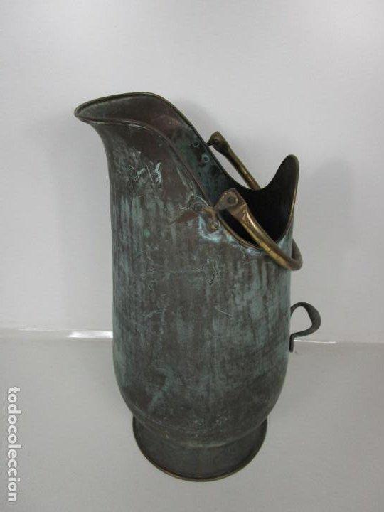 Antigüedades: Jarra, Carbonera Cobre - Asas de Latón - Ideal Bastonero, Decoración - Foto 3 - 195259868