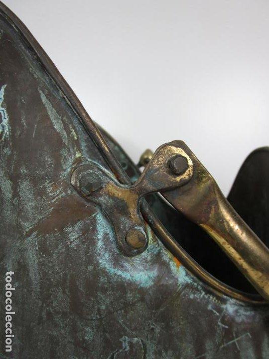 Antigüedades: Jarra, Carbonera Cobre - Asas de Latón - Ideal Bastonero, Decoración - Foto 4 - 195259868