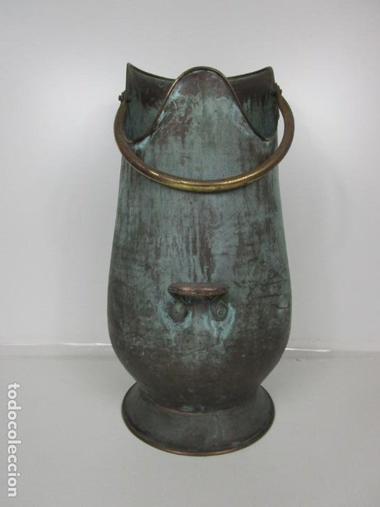 Antigüedades: Jarra, Carbonera Cobre - Asas de Latón - Ideal Bastonero, Decoración - Foto 5 - 195259868