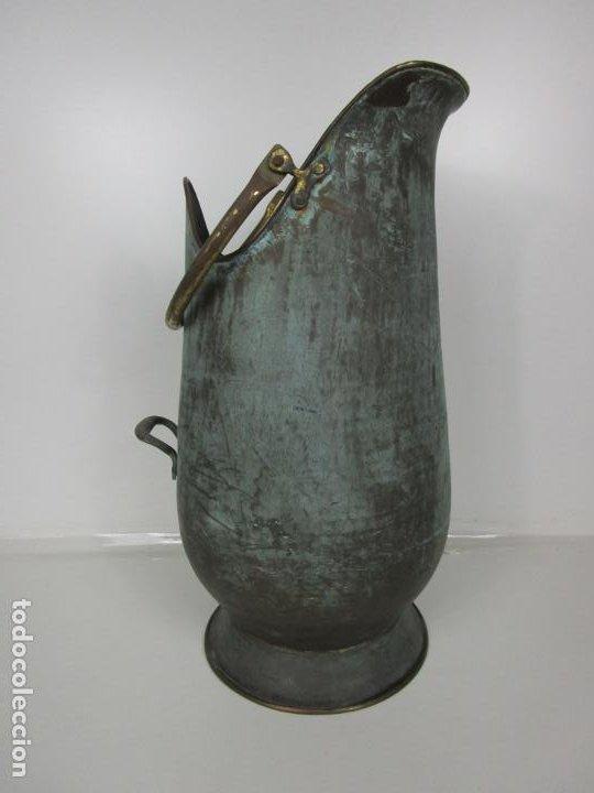 Antigüedades: Jarra, Carbonera Cobre - Asas de Latón - Ideal Bastonero, Decoración - Foto 9 - 195259868