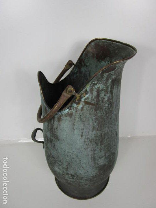 Antigüedades: Jarra, Carbonera Cobre - Asas de Latón - Ideal Bastonero, Decoración - Foto 10 - 195259868