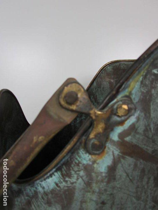 Antigüedades: Jarra, Carbonera Cobre - Asas de Latón - Ideal Bastonero, Decoración - Foto 11 - 195259868