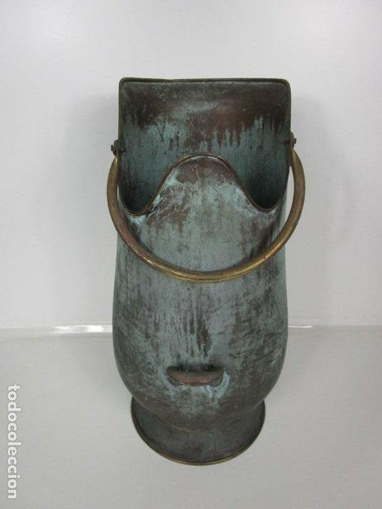 Antigüedades: Jarra, Carbonera Cobre - Asas de Latón - Ideal Bastonero, Decoración - Foto 12 - 195259868