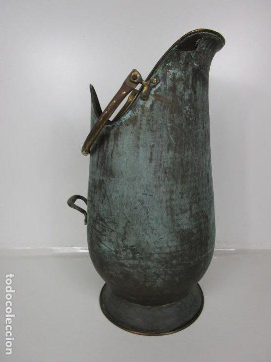Antigüedades: Jarra, Carbonera Cobre - Asas de Latón - Ideal Bastonero, Decoración - Foto 13 - 195259868