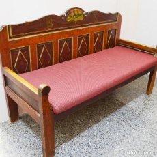 Antigüedades: ESCAÑO MADERA SIGLO XIX. Lote 195261581