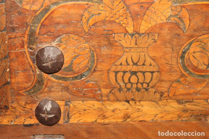Antigüedades: BARGUEÑO, MARQUETERIA ASTURIANA, SIGLOS XVI-XVII, - Foto 11 - 195262266