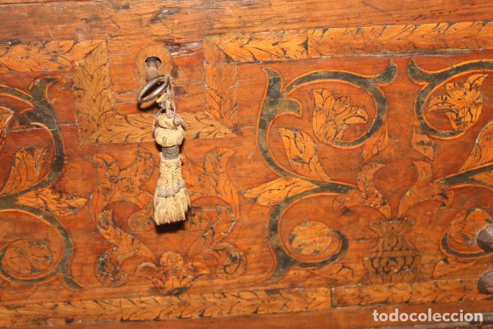 Antigüedades: BARGUEÑO, MARQUETERIA ASTURIANA, SIGLOS XVI-XVII, - Foto 12 - 195262266