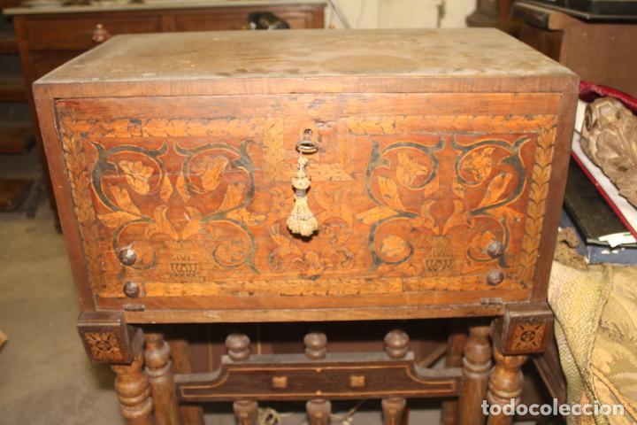 BARGUEÑO, MARQUETERIA ASTURIANA, SIGLOS XVI-XVII, (Antigüedades - Muebles Antiguos - Bargueños Antiguos)