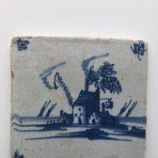 Antigüedades: AZULEJO DELF ANTIGUO. Lote 195263740