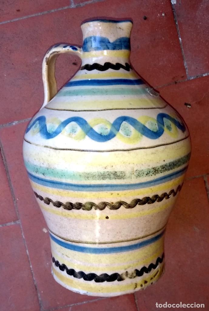 JARRA (ALCUZA) DE PUENTE DEL ARZOBISPO. SIGLO XIX. (Antigüedades - Porcelanas y Cerámicas - Puente del Arzobispo )