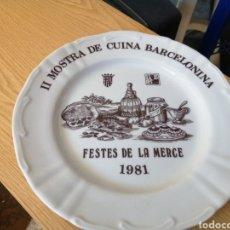 Antigüedades: II MOSTRA DE CUINA BARCELONINA FESTES DE LA MERCE 1981. Lote 195269233