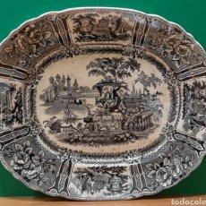 Antigüedades: GRAN FUENTE SARGADELOS. MARCA INCISA. PERFECTO ESTADO.. Lote 195272861