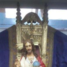 Antigüedades: CAPILLA ANTIGUA DE JESUS DE 62 CMS. DE ALTURA Y 25 CMS X 25 DE BASE. Lote 195273553