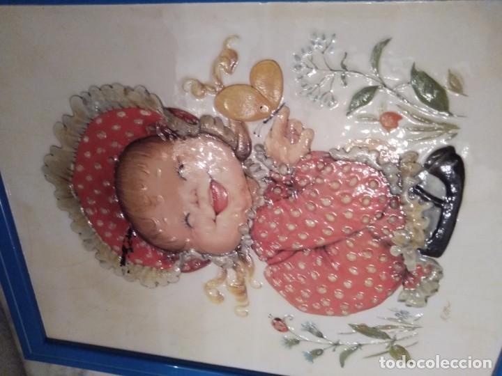 Antigüedades: Lote cuadros pareja. Lacado craquelado. - Foto 2 - 195275720