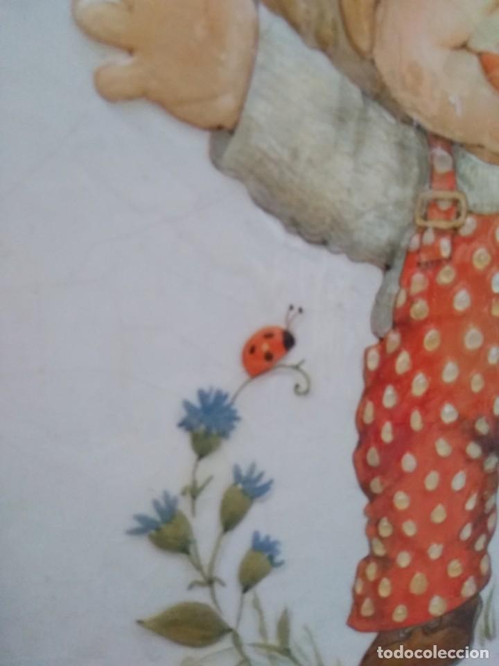 Antigüedades: Lote cuadros pareja. Lacado craquelado. - Foto 12 - 195275720