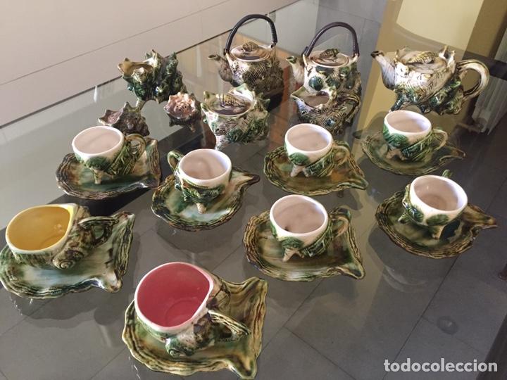 MAYOLICA. JUEGO DE CAFÉ Y TE AÑOS 50 , JAPONES PARA LA EXPORTACION (Antigüedades - Porcelana y Cerámica - Japón)