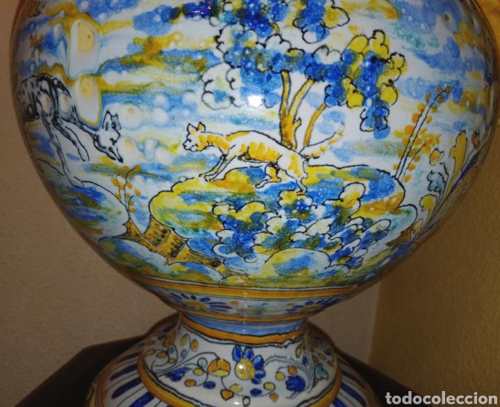 Antigüedades: JARRON DE DOS ASAS - CERAMICA DE MANISES - FINALES DEL SIGLO XIX - PIEZA UNICA -DE COLECCION PRIVADA - Foto 6 - 195278808