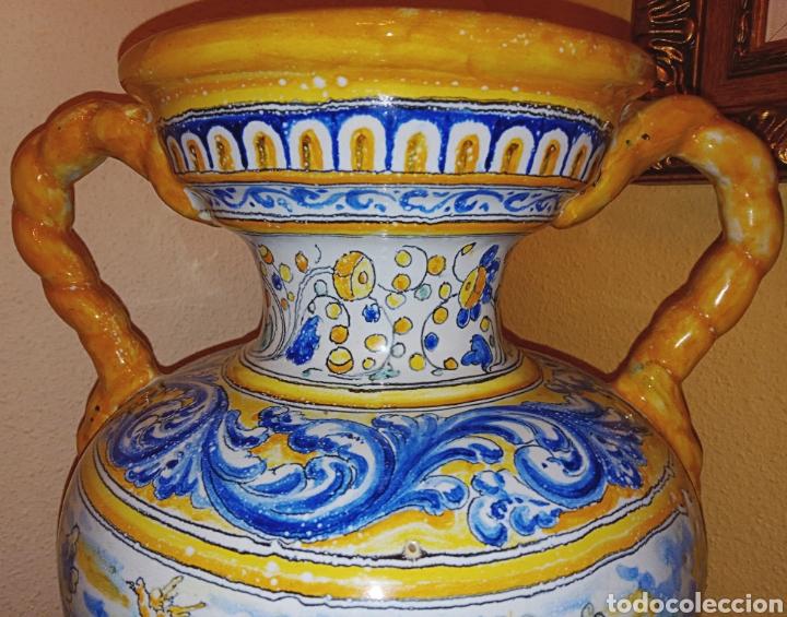 Antigüedades: JARRON DE DOS ASAS - CERAMICA DE MANISES - FINALES DEL SIGLO XIX - PIEZA UNICA -DE COLECCION PRIVADA - Foto 8 - 195278808