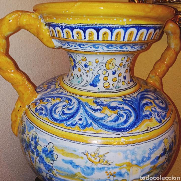 Antigüedades: JARRON DE DOS ASAS - CERAMICA DE MANISES - FINALES DEL SIGLO XIX - PIEZA UNICA -DE COLECCION PRIVADA - Foto 10 - 195278808