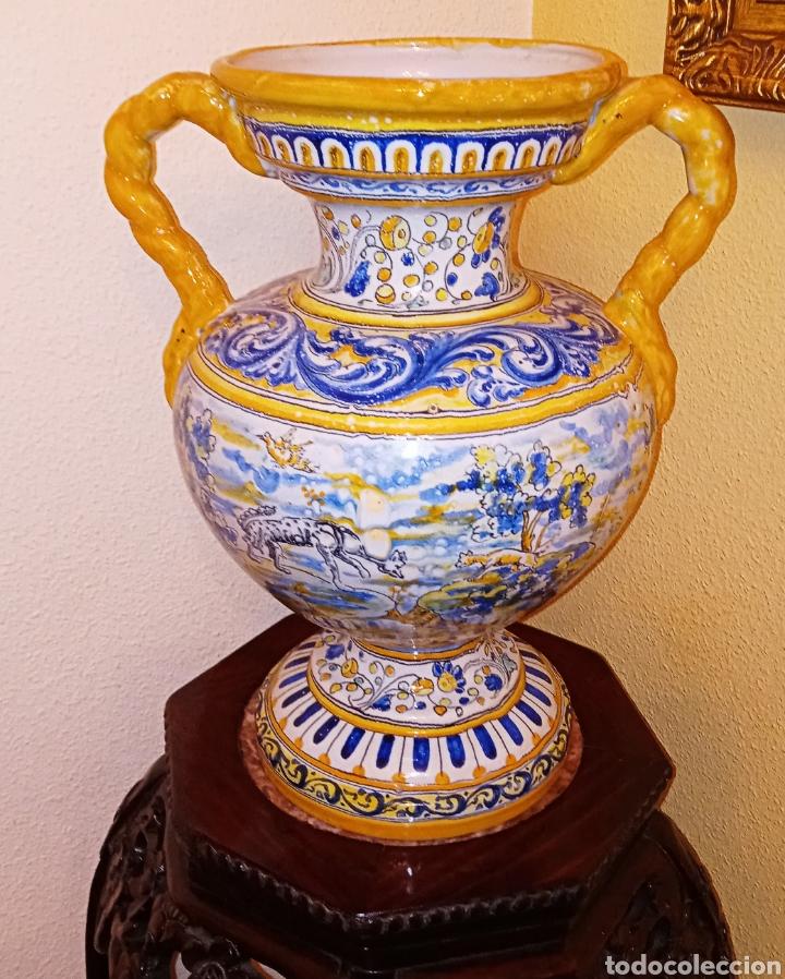 Antigüedades: JARRON DE DOS ASAS - CERAMICA DE MANISES - FINALES DEL SIGLO XIX - PIEZA UNICA -DE COLECCION PRIVADA - Foto 11 - 195278808