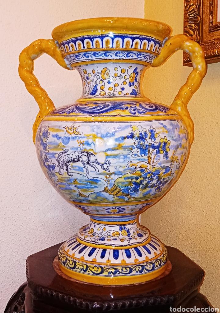 Antigüedades: JARRON DE DOS ASAS - CERAMICA DE MANISES - FINALES DEL SIGLO XIX - PIEZA UNICA -DE COLECCION PRIVADA - Foto 12 - 195278808