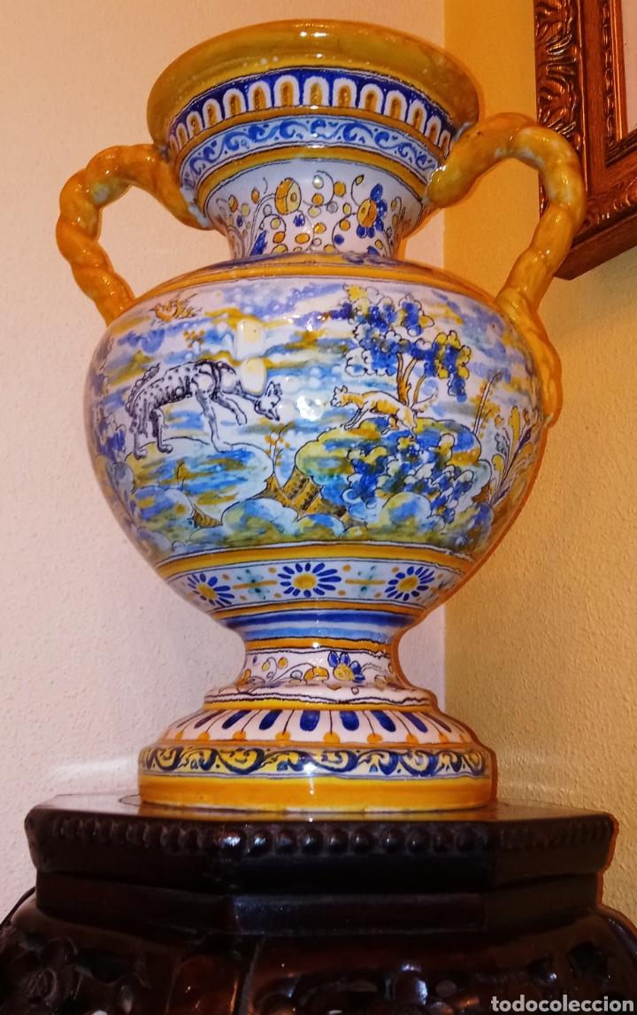 JARRON DE DOS ASAS - CERAMICA DE MANISES - FINALES DEL SIGLO XIX - PIEZA UNICA -DE COLECCION PRIVADA (Antigüedades - Porcelanas y Cerámicas - Manises)