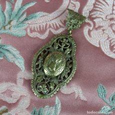 Antigüedades: RELICARIO,GUARDAPELOS CON VIRGEN DEL PILAR. Lote 195279228