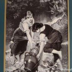 Antigüedades: REBAJAS! CUADRO ORIGINAL LA SEDA NATURAL, STEVENGRAPHS, NEYRET FRERES . Lote 195282933