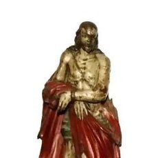 Antigüedades: ESCUELA ESPAÑOLA DEL SIGLO XVII. ECCE HOMO, ESCULTURA EN MADERA TALLADA Y POLICROMADA. . Lote 195285600