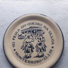 Antigüedades: PLATO CONMEMORATIVO DE BURELARTE. VII FEIRA QUEIXO DA ULLOA. 22 DE FEBRERO DE 1998.. Lote 195296971