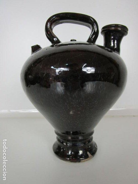 ANTIGUO BOTIJO, CANTIR - CERÁMICA CATALANA - ALFARERÍA, TERRISSA DE OLOT - S. XVIII-XIX (Antigüedades - Porcelanas y Cerámicas - Catalana)